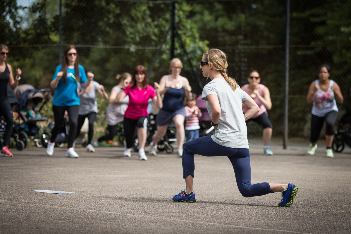 Zoe Baggi working us out in Dulwich Park. Photo credit: Michael Harvey