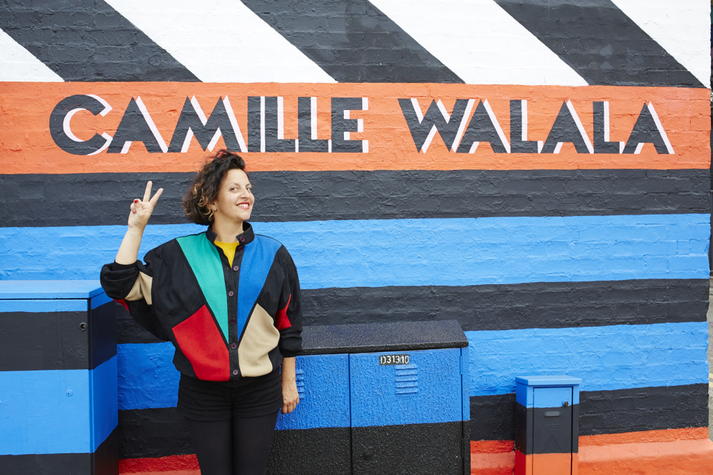 Camille and her building of dreams in Shoreditch. Photo: Jenny Lewis.